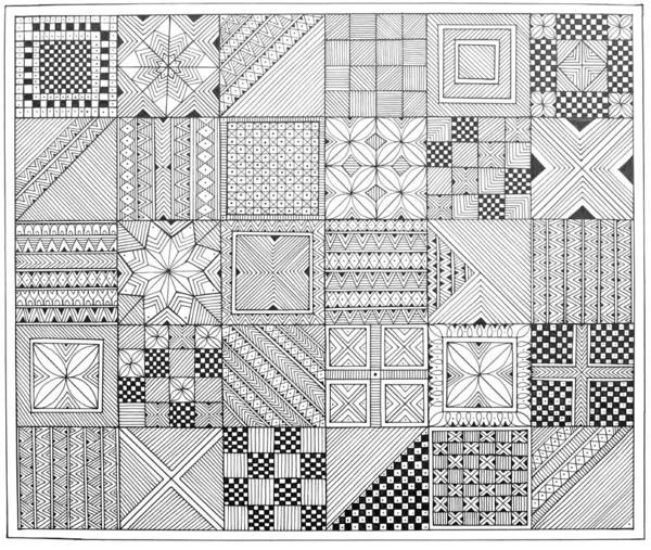 Colours Drawing - Pattern 1 by MGL Meiklejohn Graphics Licensing