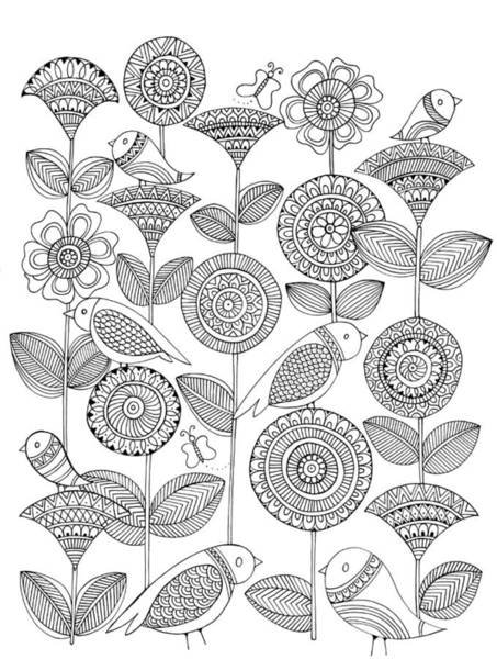 Intricate Drawing - Pattern 12 by MGL Meiklejohn Graphics Licensing