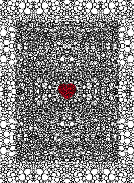 Ready Painting - Pattern 19 - Heart Art - Black And White Exquisite Pattern By Sharon Cummings by Sharon Cummings