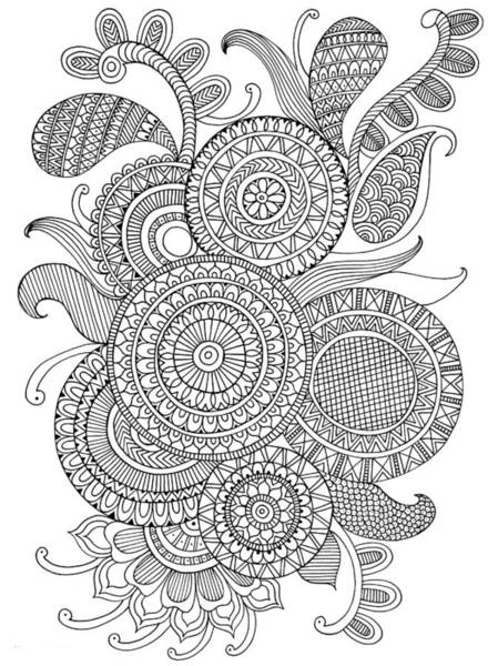 Wall Art - Drawing - Pattern 2 by MGL Meiklejohn Graphics Licensing