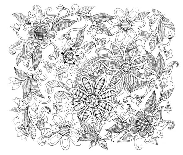 Wall Art - Drawing - Pattern 3 by MGL Meiklejohn Graphics Licensing