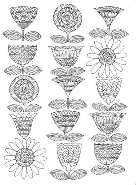 Colours Drawing - Pattern 5 by MGL Meiklejohn Graphics Licensing
