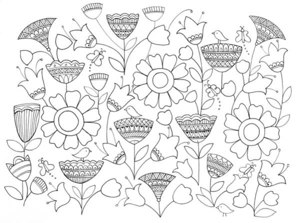 Colours Drawing - Pattern 6 by MGL Meiklejohn Graphics Licensing