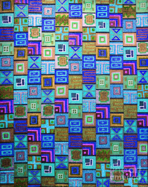 Drawing - Pattern And Color Study2 by Megan Dirsa-DuBois