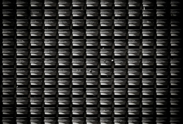 Pattern Of Hotel Balconies In Black And Art Print