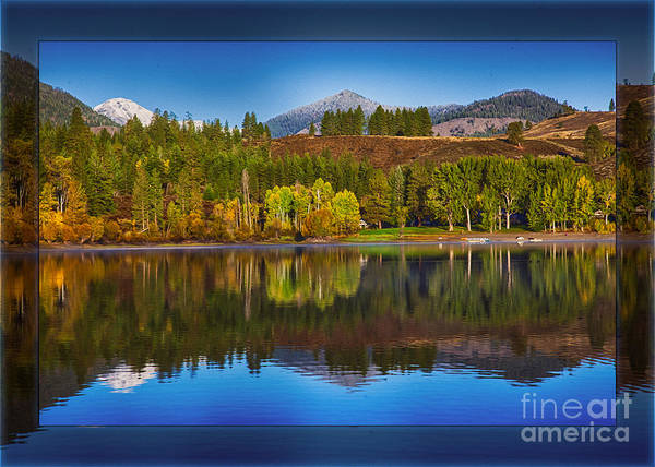Photograph - Patterson Lake Cabins And Mt Gardner Landscape Art by Omaste Witkowski