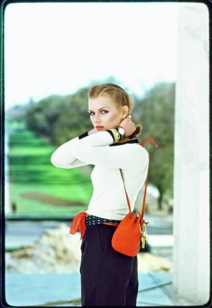 Wall Art - Photograph - Patti Hansen Wearing Calvin Klein by Arthur Elgort