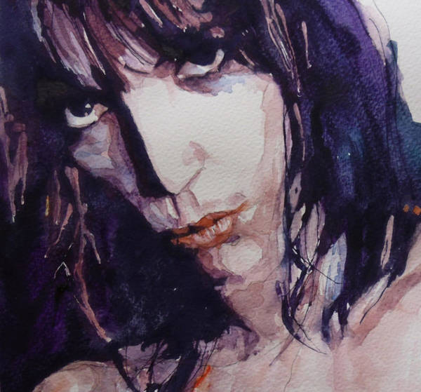 Rock Painting - Patti Smith by Paul Lovering