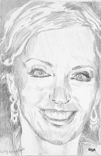 Gold Medal Drawing - Patty Wagstaff by Judi Geer Kellas