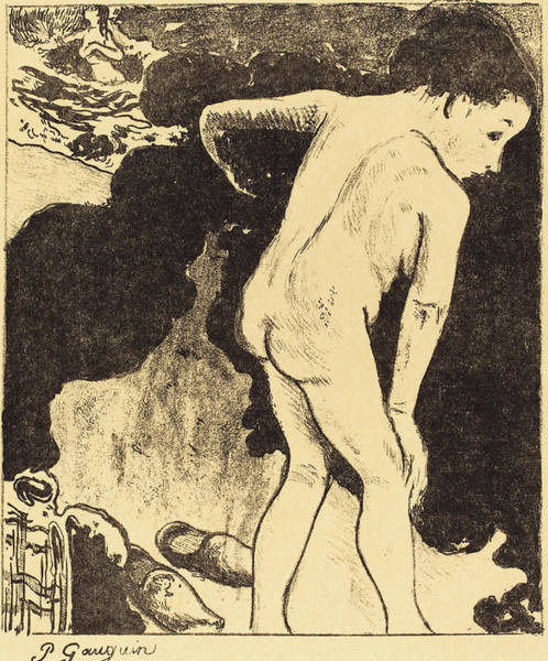 Wall Art - Drawing - Paul Gauguin French, 1848 - 1903, Bathers In Brittany by Quint Lox
