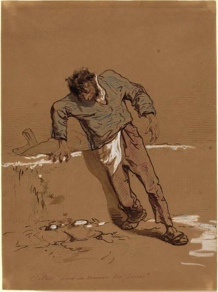 Prepare Drawing - Paul Gavarni French, 1804 - 1866, Cetais Pour Se Donner Des by Quint Lox