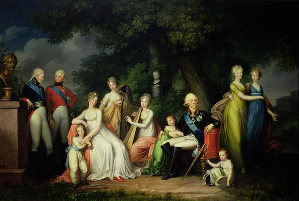 Duke University Photograph - Paul I 1754-1801, Maria Feodorovna 1759-1828 And Their Children, C.1800 Oil On Canvas by Franz Gerhard von Kugelgen