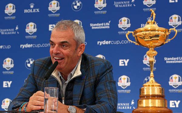 Paul Mcginley Press Conference - 2014 Ryder Cup Art Print by Mike Ehrmann