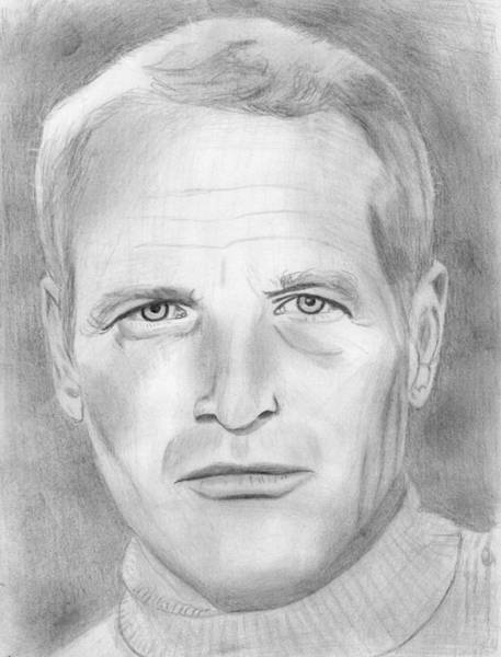 Drawing - Paul Newman by Pat Moore