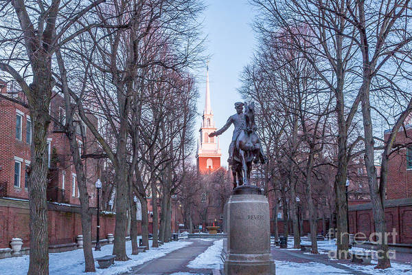 Photograph - Paul Revere And Old North Church  by Susan Cole Kelly