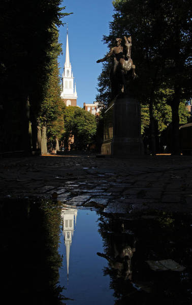 End Of The Trail Photograph - Paul Revere And The Old North Church by Juergen Roth