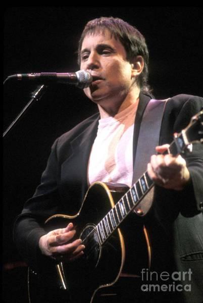 Folk Singer Photograph - Paul Simon by Concert Photos