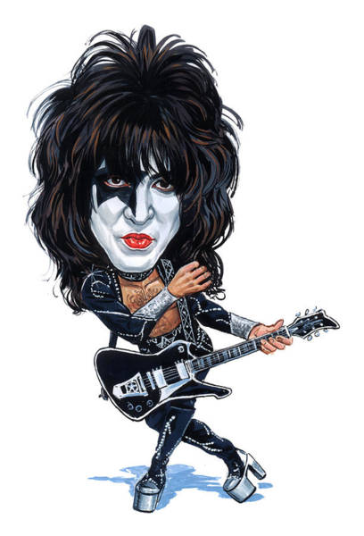 Laughter Wall Art - Painting - Paul Stanley by Art