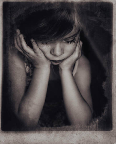 Sorrow Photograph - Paula by Slavka Miklosova