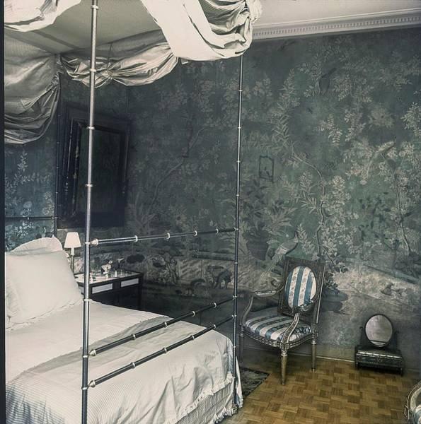 Antique Furniture Photograph - Pauline De Rothschild's Bedroom by Horst P. Horst