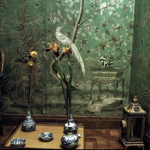 Tray Photograph - Pauline De Rothschild's Home by Horst P. Horst