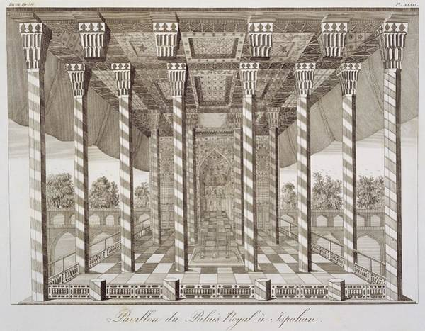 Exotic Drawing - Pavilion At The Royal Palace by French School