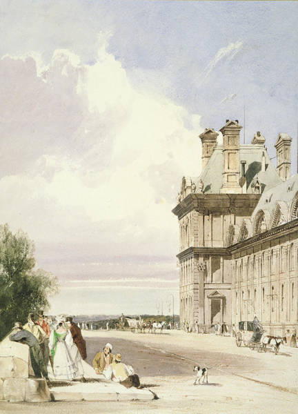 Carriages Painting - Pavilion De Flore, Tuileries, Paris by Thomas Shotter Boys