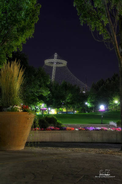 Expo 74 Photograph - Pavillion At Night by Dan Quam