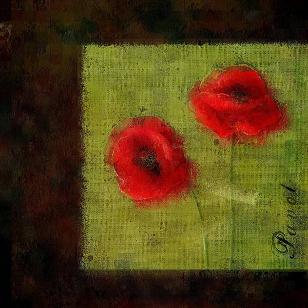 Poppies Digital Art - Pavot - 027023173-bl01 by Variance Collections