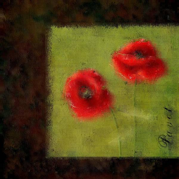 Poppies Digital Art - Pavot - 027023222-bl02 by Variance Collections