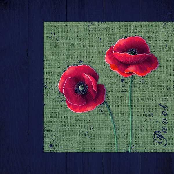 Poppies Digital Art - Pavot - S01c08a by Variance Collections