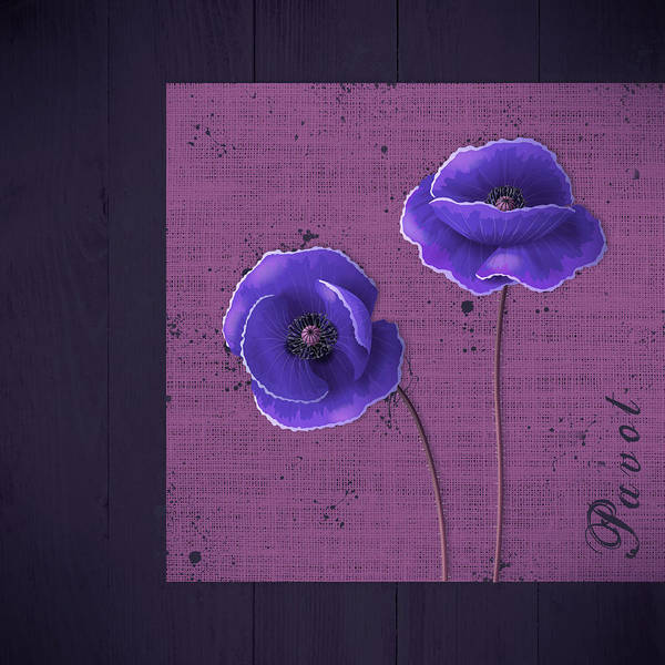 Poppies Digital Art - Pavot - S01c09a by Variance Collections