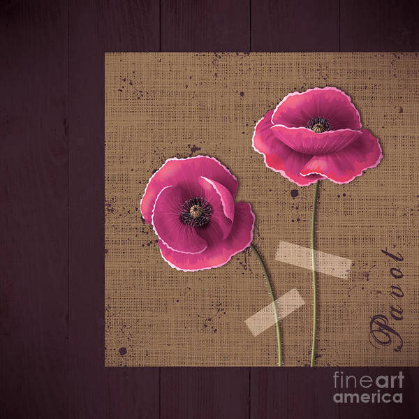 Poppies Digital Art - Pavot - S02c11b by Variance Collections