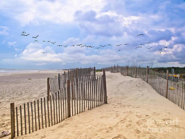 Pawleys Island Beach Scene Art Print