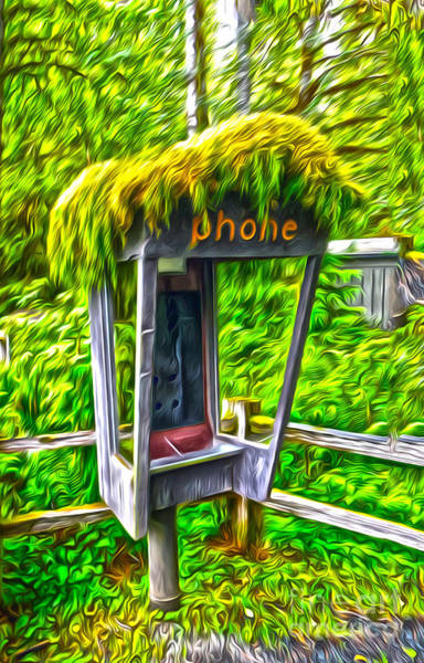 Painting - Pay Phone by Gregory Dyer
