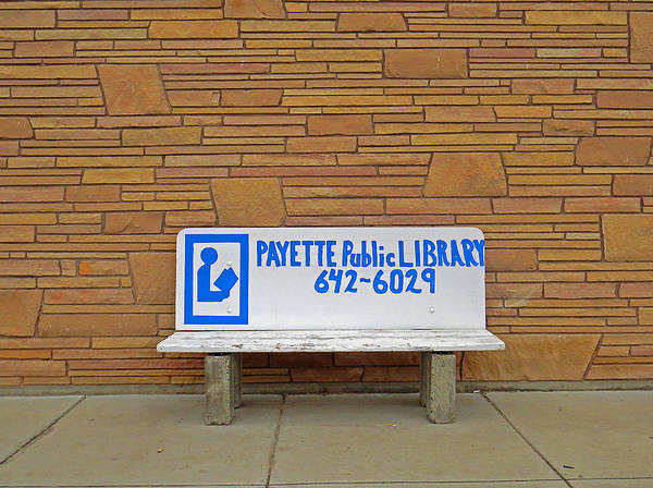 Payette Library Bench Art Print