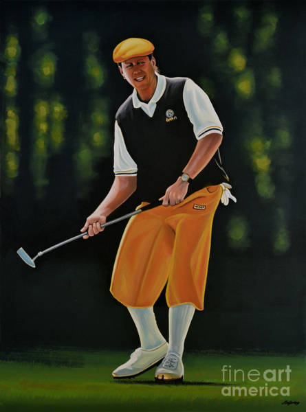 Golf Painting - Payne Stewart by Paul Meijering