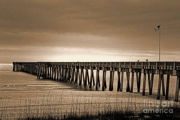 Photograph - Pc Beach Pier by Dave Bosse