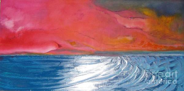 Wall Art - Painting - Pch Sunset by Jane Ubell-Meyer