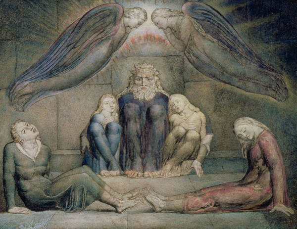 Inferno Painting - Pd.5-1978 Count Ugolino And His Sons by William Blake