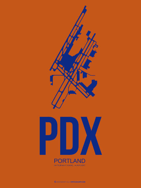 Portland Digital Art - Pdx Portland Airport Poster 1 by Naxart Studio