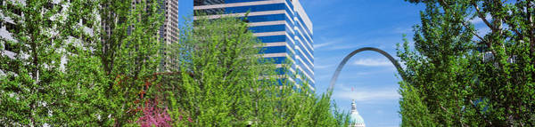 Wall Art - Photograph - Peabody Building With Gateway Arch, St by Panoramic Images