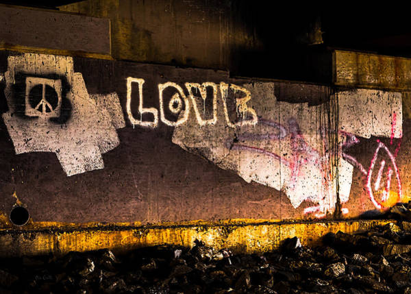 Wall Art - Photograph - Peace And Love Under The Bridge by Bob Orsillo