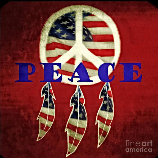 Wall Art - Photograph - Peace Flag by Eva Thomas