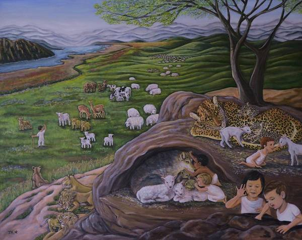Wall Art - Painting - Peace In Messiah's Holy Mountain by Jennifer Kwon