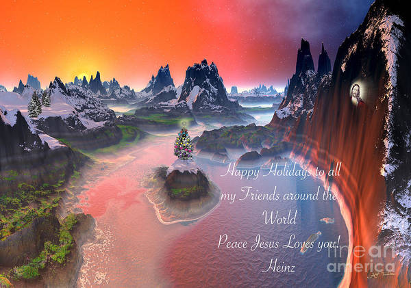 Wall Art - Digital Art - Peace In The World  Jesus Loves You All. by Heinz G Mielke