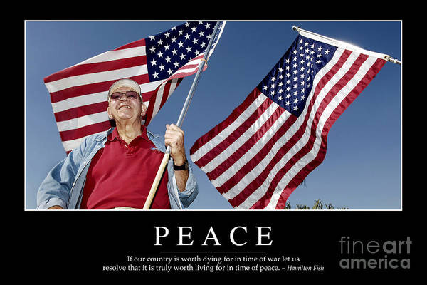 Photograph - Peace Inspirational Quote by Stocktrek Images