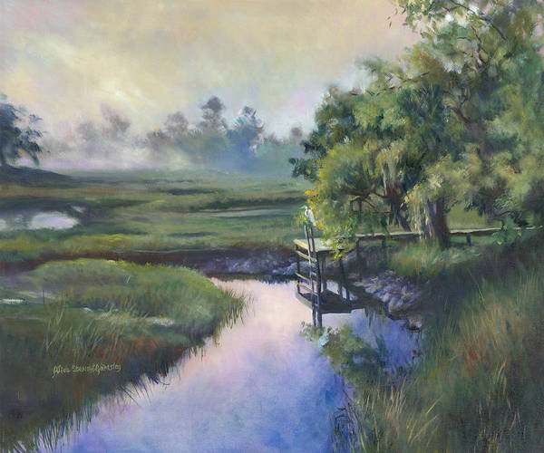 Marsh Bird Painting - Peace Like A River by Alice Grimsley