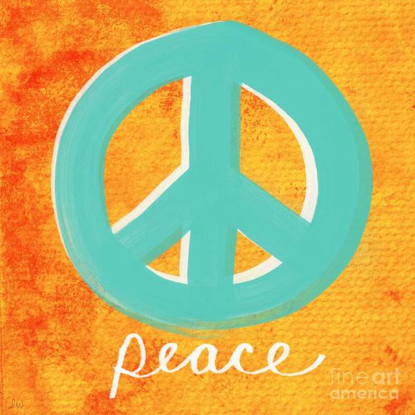 Writing Wall Art - Painting - Peace by Linda Woods