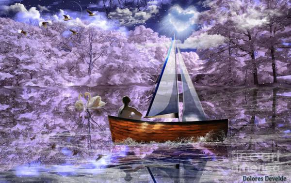 Swan Boats Digital Art - Peace Lives In My Heart by Dolores Develde